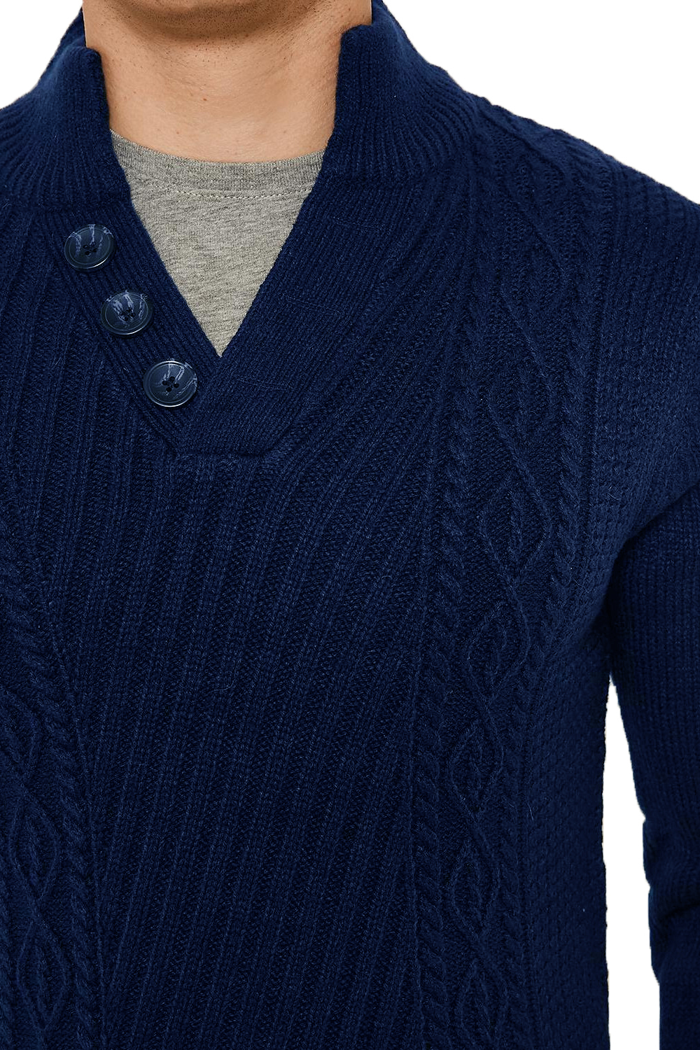 Threadbare-Wray-Mens-Top-Cable-Knited-Designer-Luxurious-Wool-Mix-Raglan-Jumpers thumbnail 16