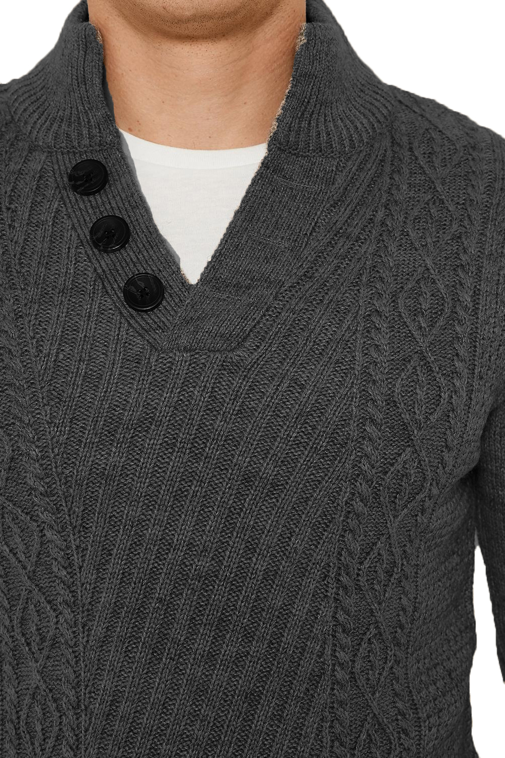 Threadbare-Wray-Mens-Top-Cable-Knited-Designer-Luxurious-Wool-Mix-Raglan-Jumpers thumbnail 3