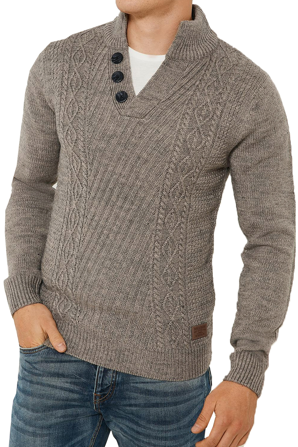Threadbare-Wray-Mens-Top-Cable-Knited-Designer-Luxurious-Wool-Mix-Raglan-Jumpers thumbnail 24