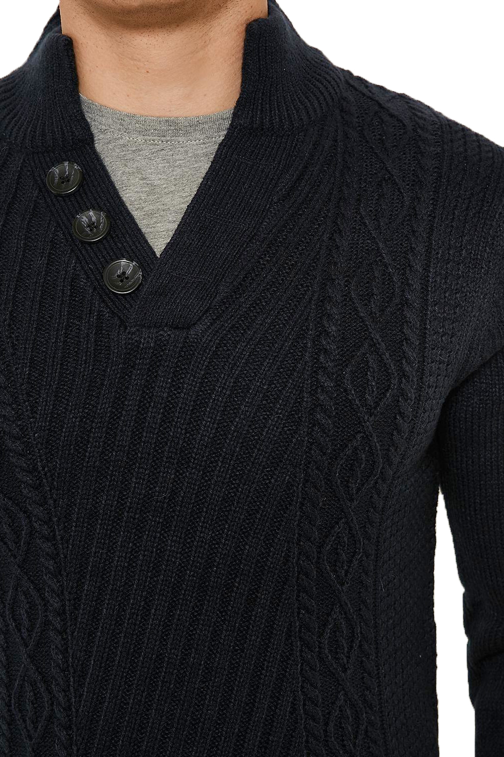 Threadbare-Wray-Mens-Top-Cable-Knited-Designer-Luxurious-Wool-Mix-Raglan-Jumpers thumbnail 12
