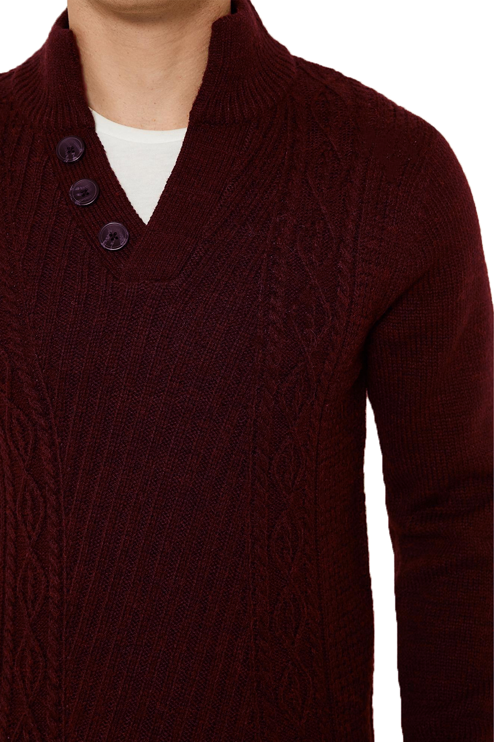Threadbare-Wray-Mens-Top-Cable-Knited-Designer-Luxurious-Wool-Mix-Raglan-Jumpers thumbnail 6
