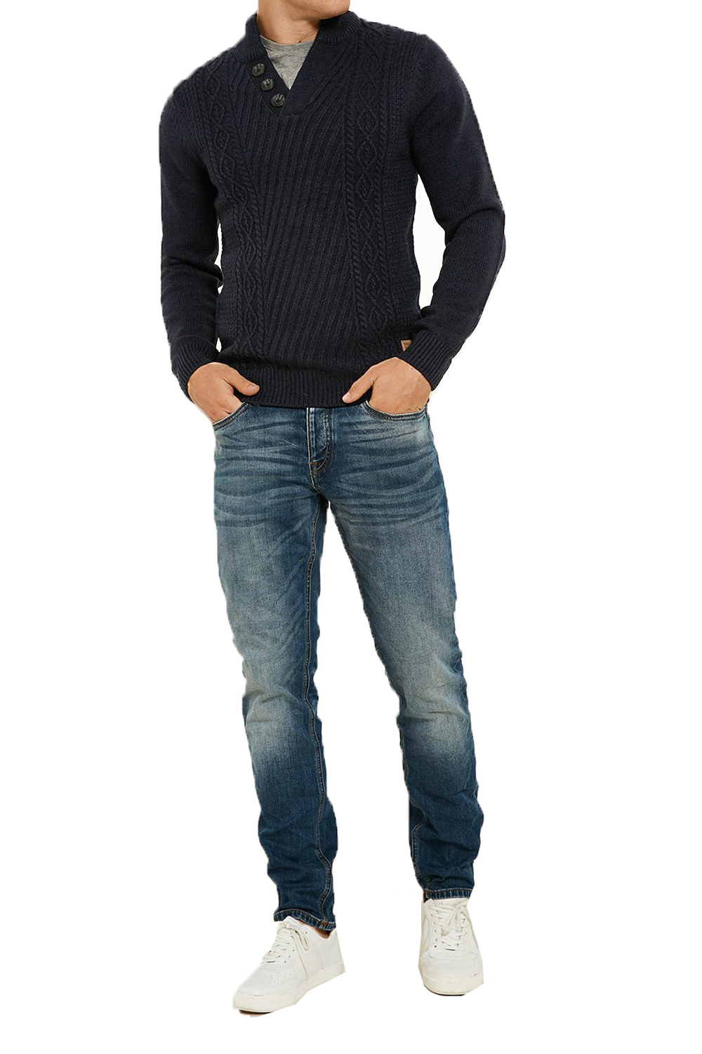 Threadbare-Wray-Mens-Top-Cable-Knited-Designer-Luxurious-Wool-Mix-Raglan-Jumpers thumbnail 11