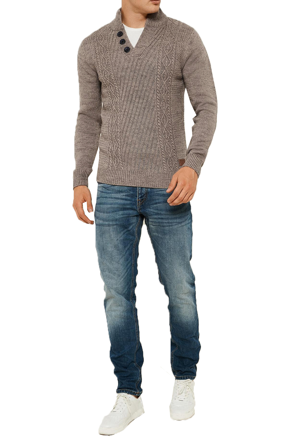 Threadbare-Wray-Mens-Top-Cable-Knited-Designer-Luxurious-Wool-Mix-Raglan-Jumpers thumbnail 22