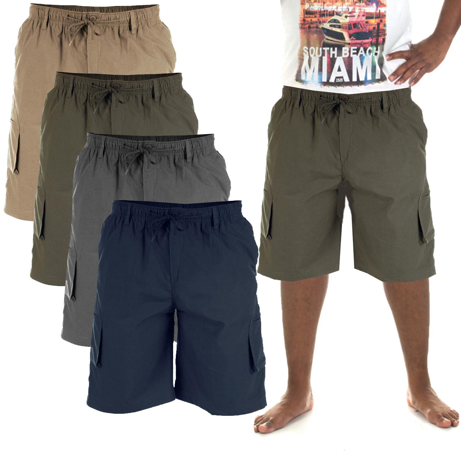 1b4519deda Details about Duke D555 Mens Big King Size Nick Cargo Combat Summer Elasticated  Waist Shorts