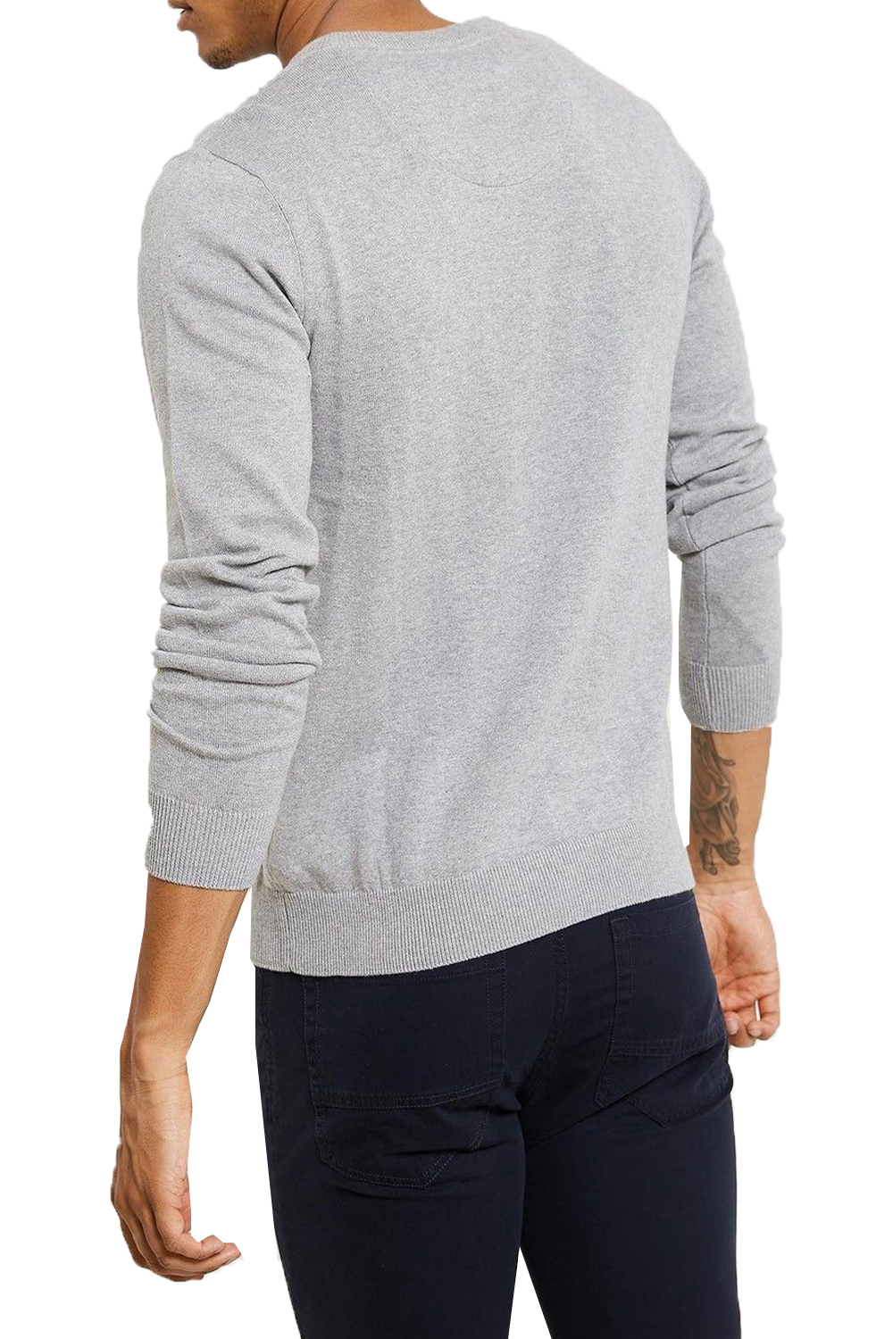 Threadbare Mens Bleak Sweater Lightweight Knitted Pull Over V Neck