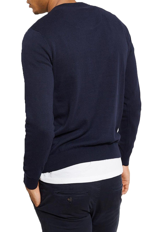Logoro-Maglione-Da-Uomo-alborella-leggero-di-stoffa-a-maglia-accostare-V-Neck-Maglione-Smart miniatura 5