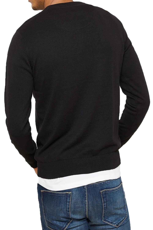 Logoro-Maglione-Da-Uomo-alborella-leggero-di-stoffa-a-maglia-accostare-V-Neck-Maglione-Smart miniatura 3