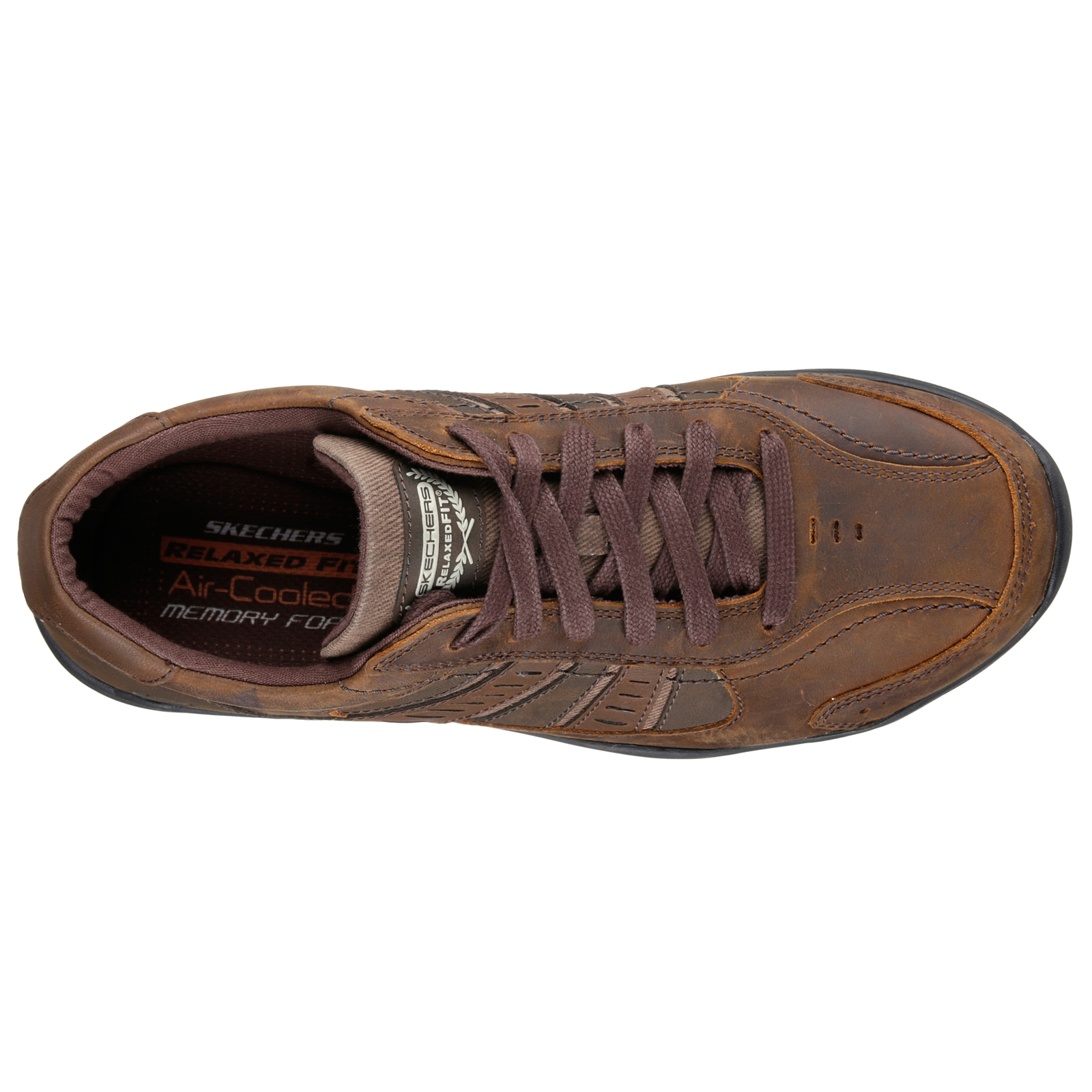 Skechers-Relaxed-Fit-Mens-Larson-Leather-Lace-Up-Memory-Foam-Trainers-Size-7-13 thumbnail 14