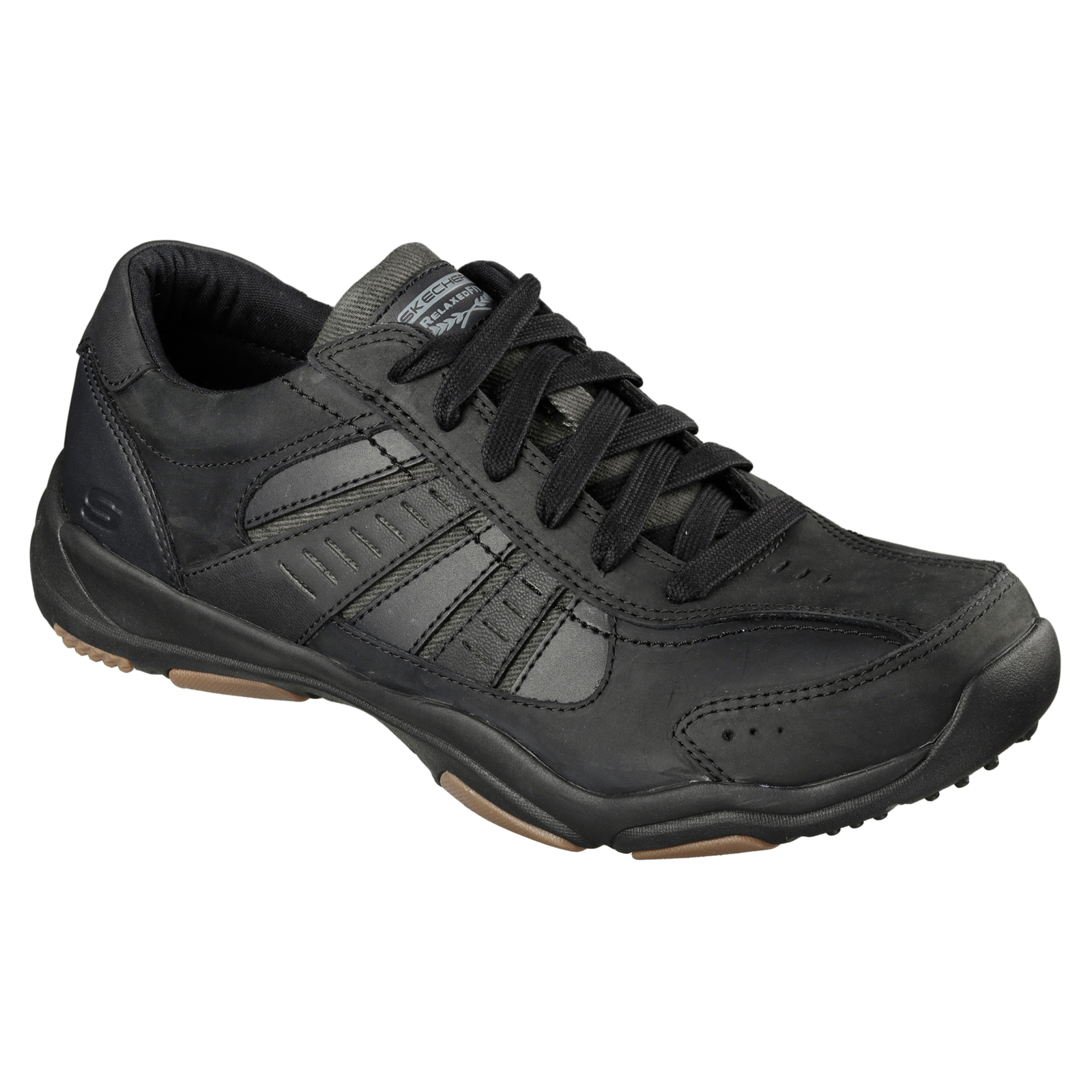 Skechers-Relaxed-Fit-Mens-Larson-Leather-Lace-Up-Memory-Foam-Trainers-Size-7-13 thumbnail 4