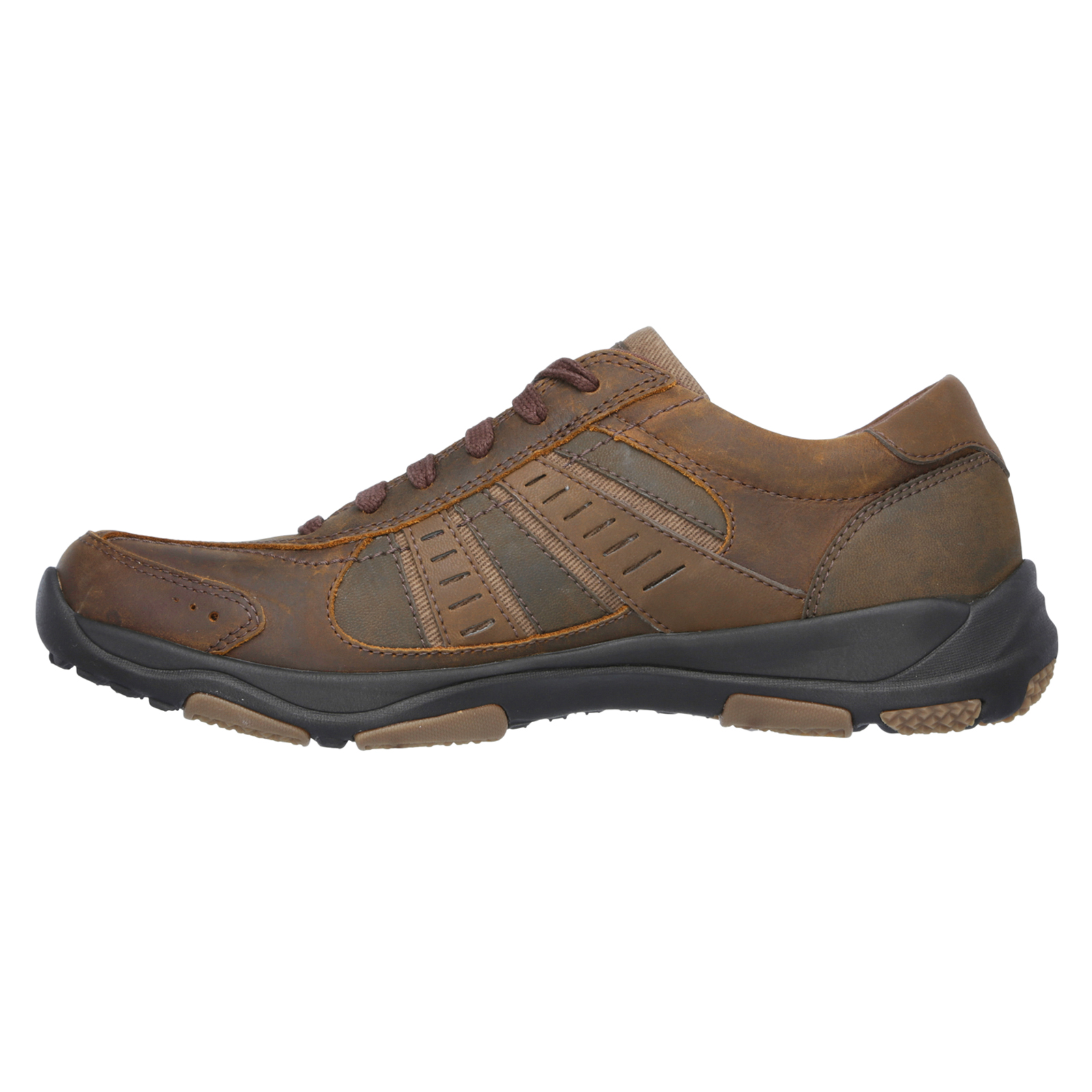 Skechers-Relaxed-Fit-Mens-Larson-Leather-Lace-Up-Memory-Foam-Trainers-Size-7-13 thumbnail 11
