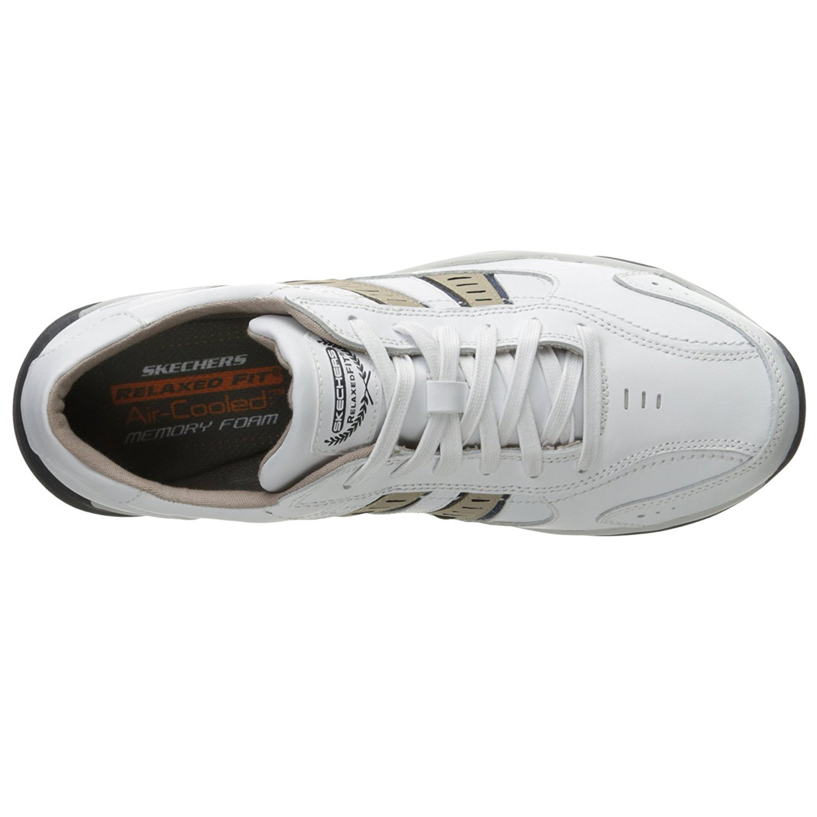 Skechers-Relaxed-Fit-Mens-Larson-Leather-Lace-Up-Memory-Foam-Trainers-Size-7-13 thumbnail 26