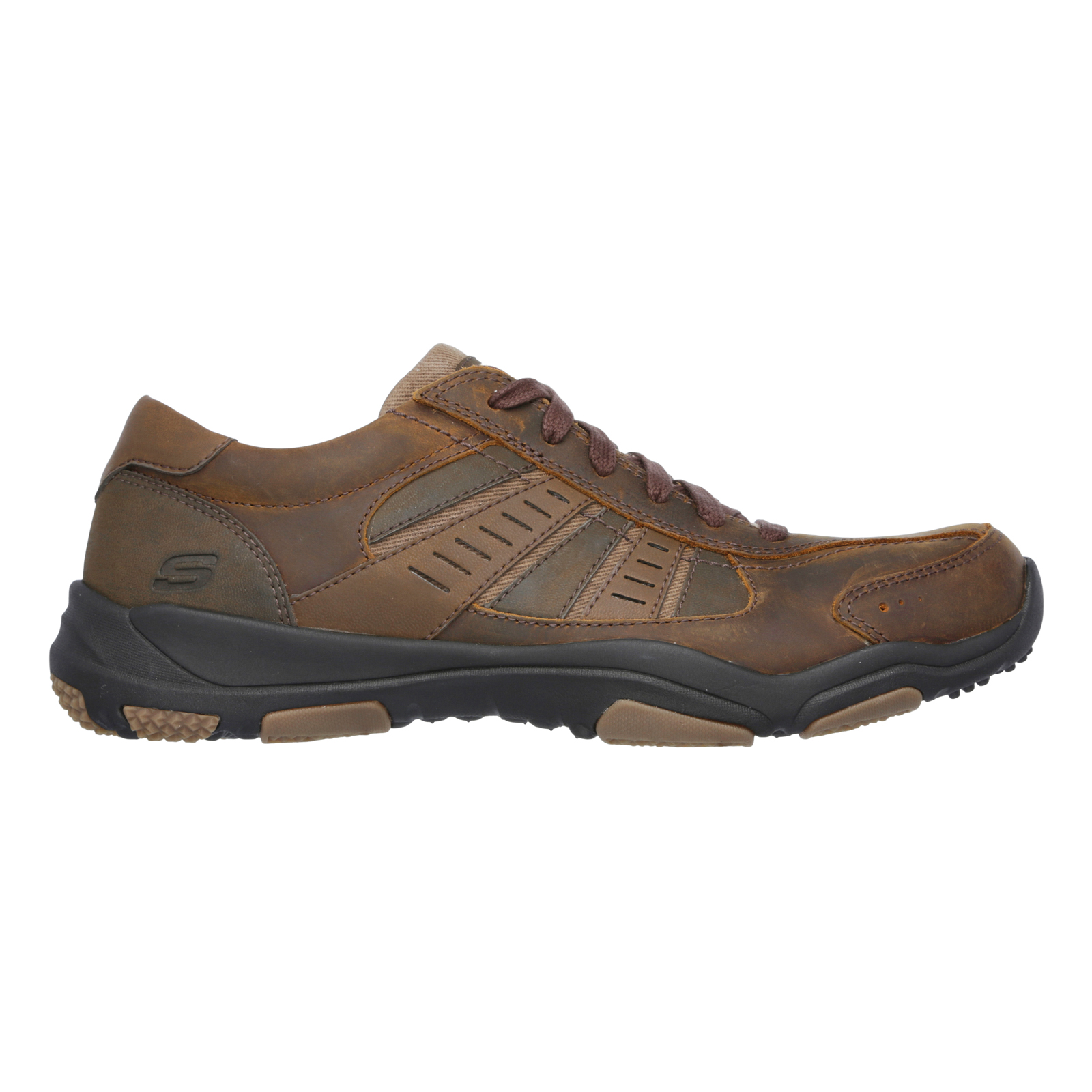 Skechers-Relaxed-Fit-Mens-Larson-Leather-Lace-Up-Memory-Foam-Trainers-Size-7-13 thumbnail 10
