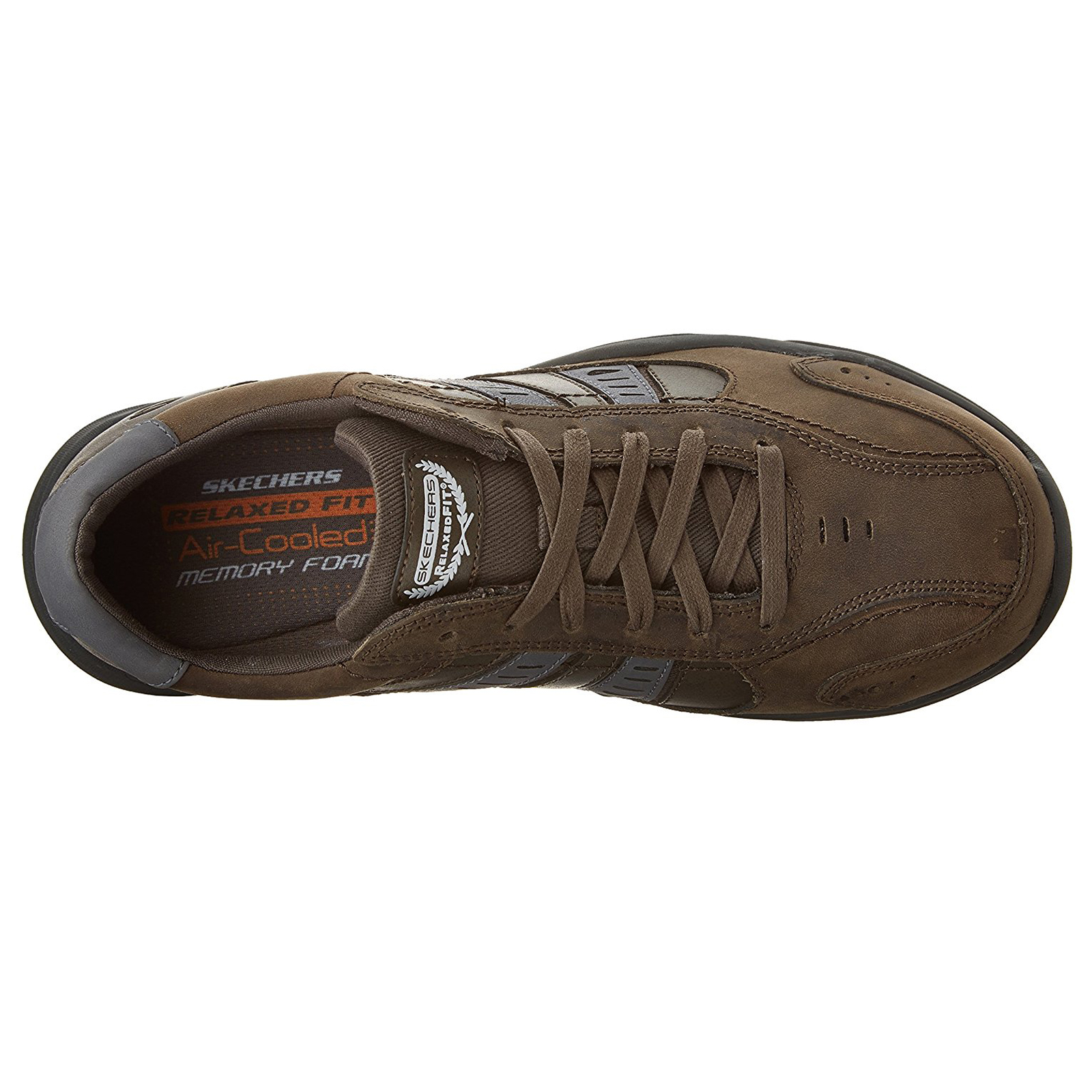 Skechers-Relaxed-Fit-Mens-Larson-Leather-Lace-Up-Memory-Foam-Trainers-Size-7-13 thumbnail 20