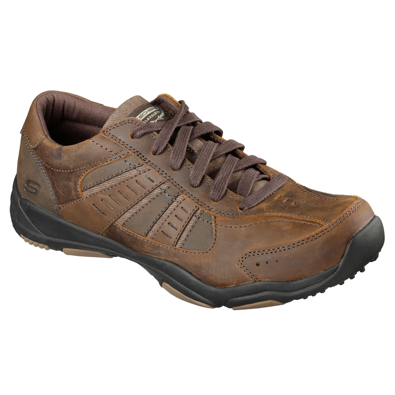 Skechers-Relaxed-Fit-Mens-Larson-Leather-Lace-Up-Memory-Foam-Trainers-Size-7-13 thumbnail 12