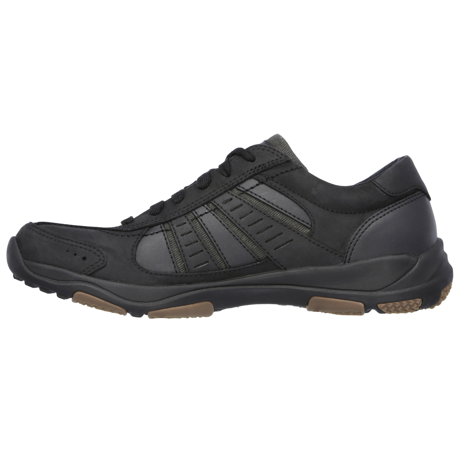 Skechers-Relaxed-Fit-Mens-Larson-Leather-Lace-Up-Memory-Foam-Trainers-Size-7-13 thumbnail 5