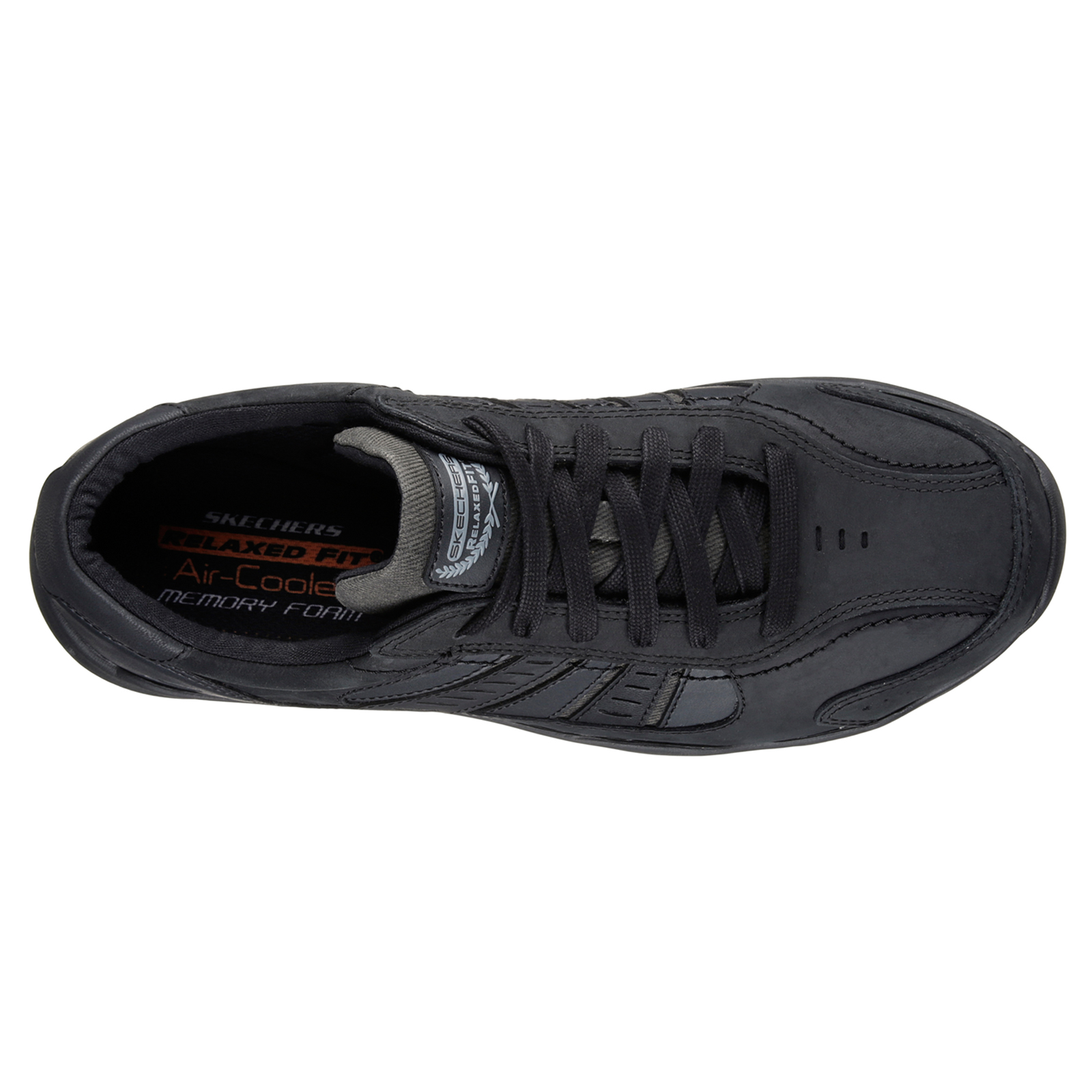 Skechers-Relaxed-Fit-Mens-Larson-Leather-Lace-Up-Memory-Foam-Trainers-Size-7-13 thumbnail 7