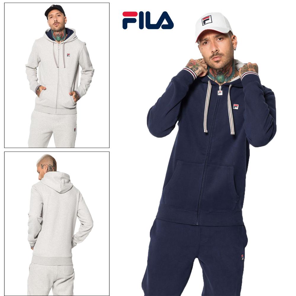 Details about Fila Mens Tenconi Retro Hoodie Comfy Soft Fleece Sports Full Zip Up Sweatshirt