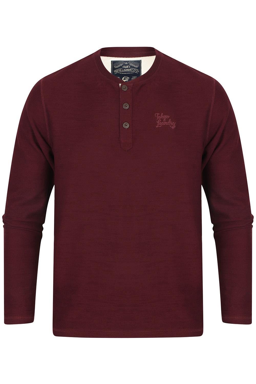 Tokyo-Laundry-Mens-Henley-Neck-Long-Sleeve-Top-Soft-Cotton-Casual-T-Shirt-Tee thumbnail 6