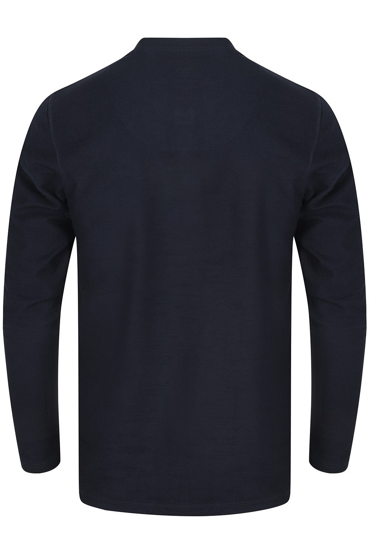 Tokyo-Laundry-Mens-Henley-Neck-Long-Sleeve-Top-Soft-Cotton-Casual-T-Shirt-Tee thumbnail 4