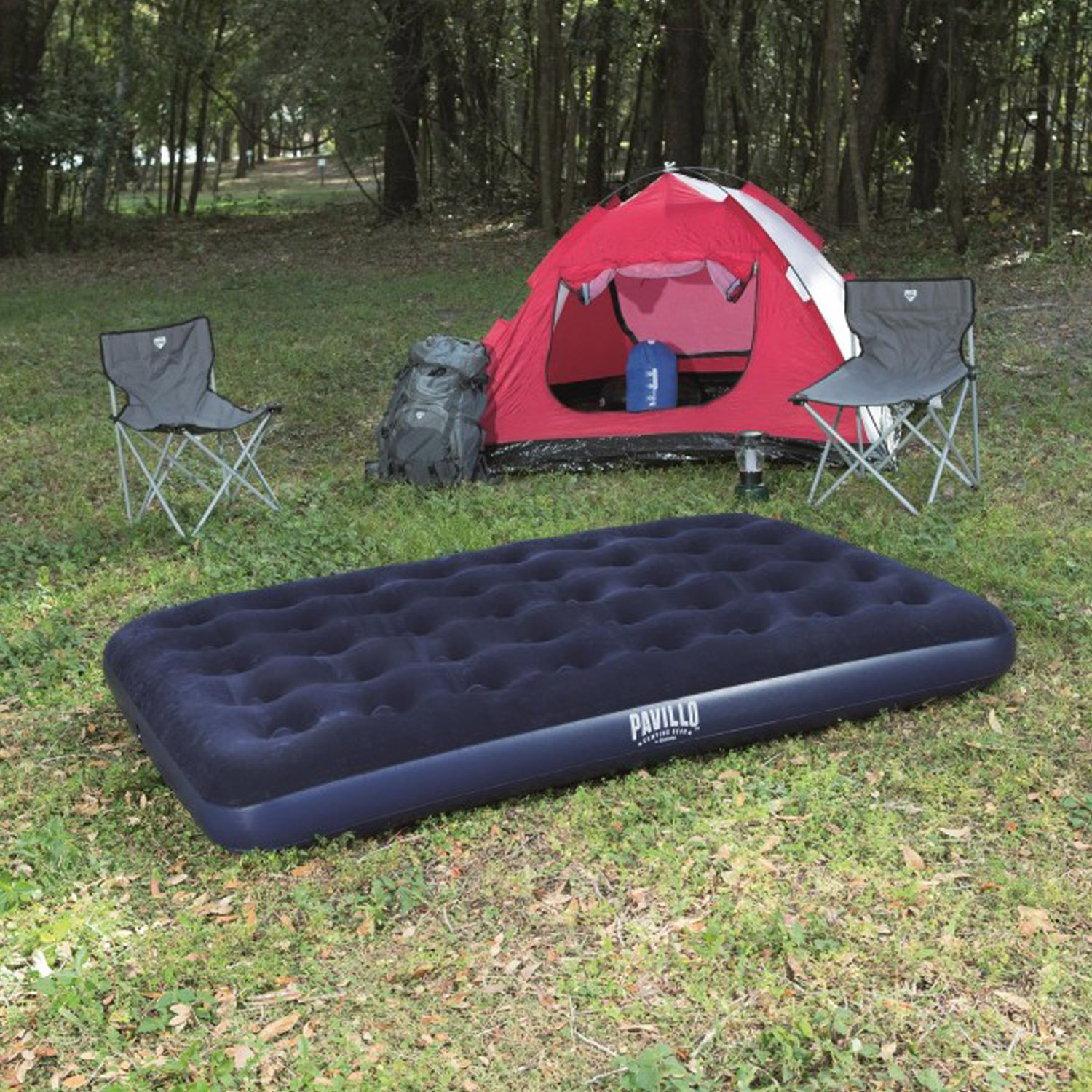 Bestway Flocked Camping Single Or Double Inflatable Blow Up Mattress Airbeds