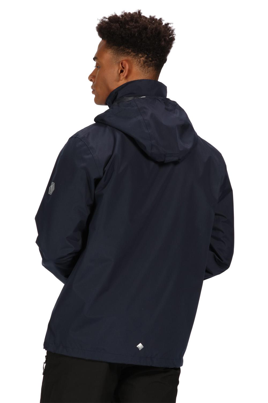 opaca impermeabile anti uomo pioggia a da cappuccio Hydrafort blu Regatta scuro Cappuccio Giacca antivento qtB86