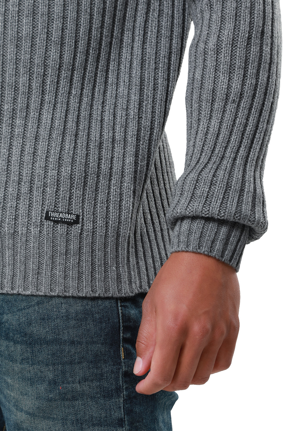 Threadbare-Mens-Saltbush-Jumper-Crew-Neck-Chunky-Cable-Knit-Wool-Blend-Sweater thumbnail 10