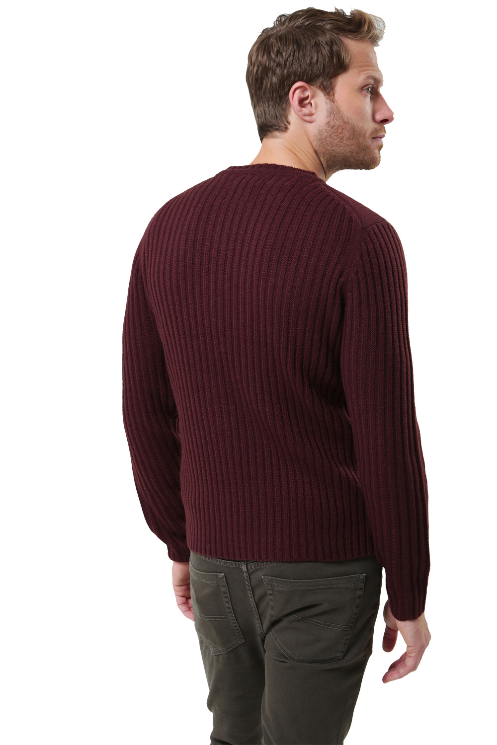 Threadbare-Mens-Saltbush-Jumper-Crew-Neck-Chunky-Cable-Knit-Wool-Blend-Sweater thumbnail 6