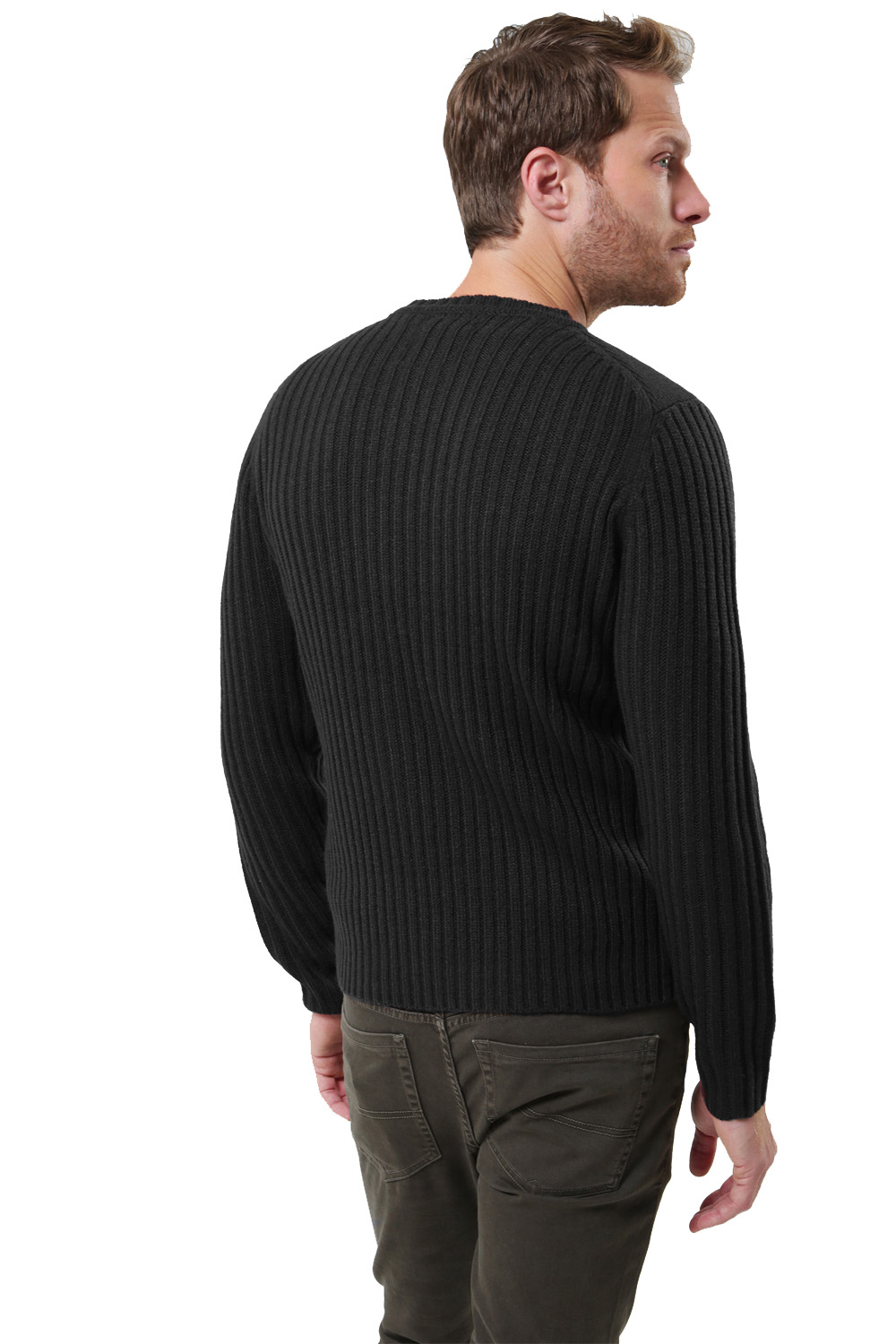 Threadbare-Mens-Saltbush-Jumper-Crew-Neck-Chunky-Cable-Knit-Wool-Blend-Sweater thumbnail 3