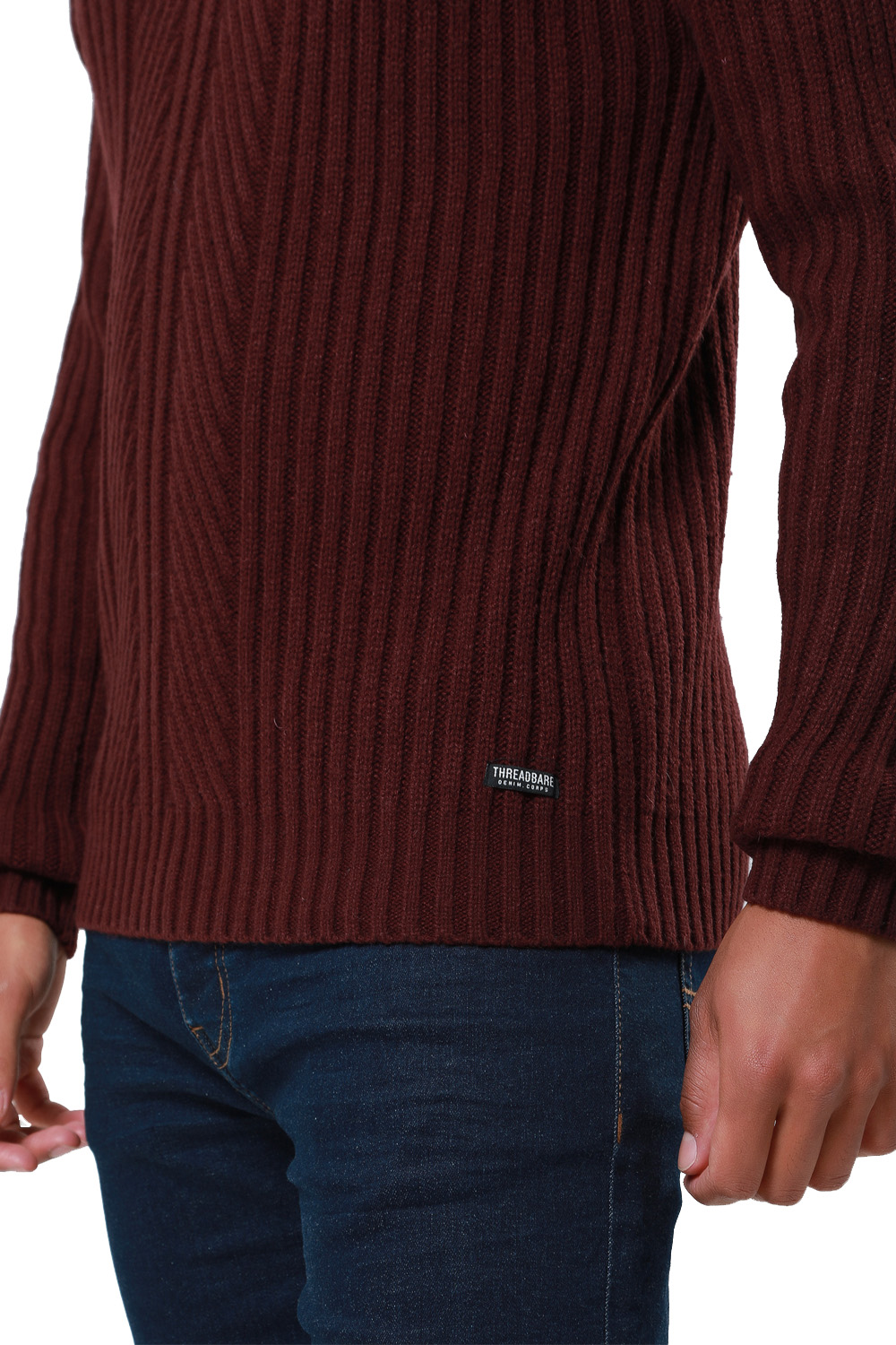 Threadbare-Mens-Saltbush-Jumper-Crew-Neck-Chunky-Cable-Knit-Wool-Blend-Sweater thumbnail 7