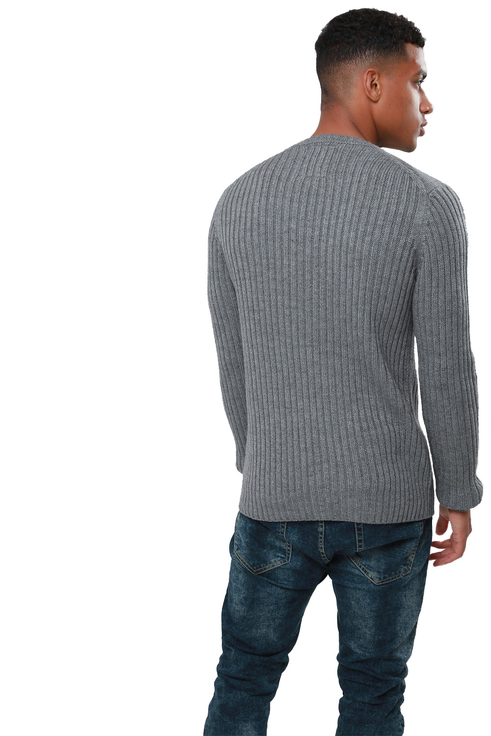 Threadbare-Mens-Saltbush-Jumper-Crew-Neck-Chunky-Cable-Knit-Wool-Blend-Sweater thumbnail 9