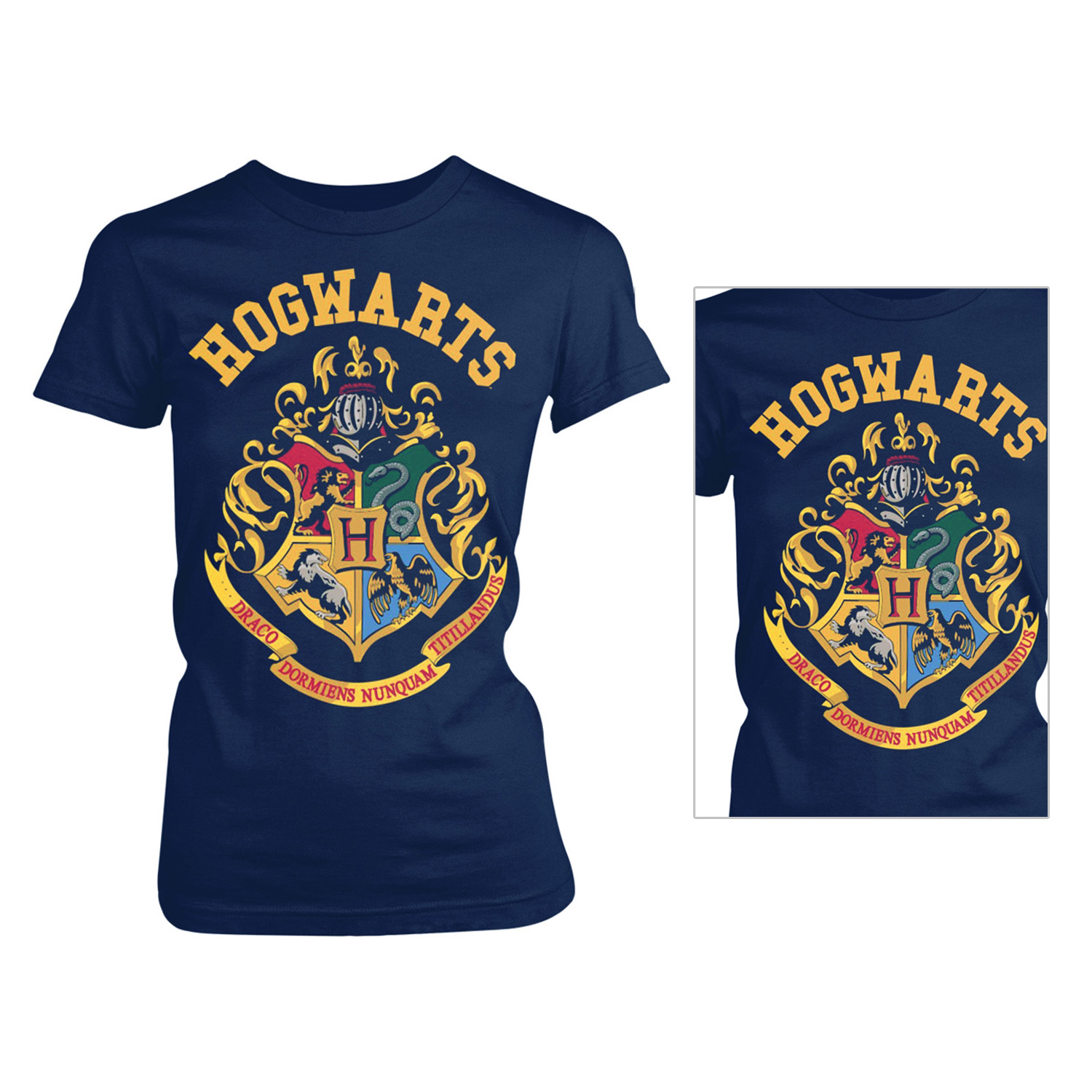 3293b628f Details about Harry Potter Official Licensed Mens Hogwarts Crest Graphic  Print T-Shirt Tee Top
