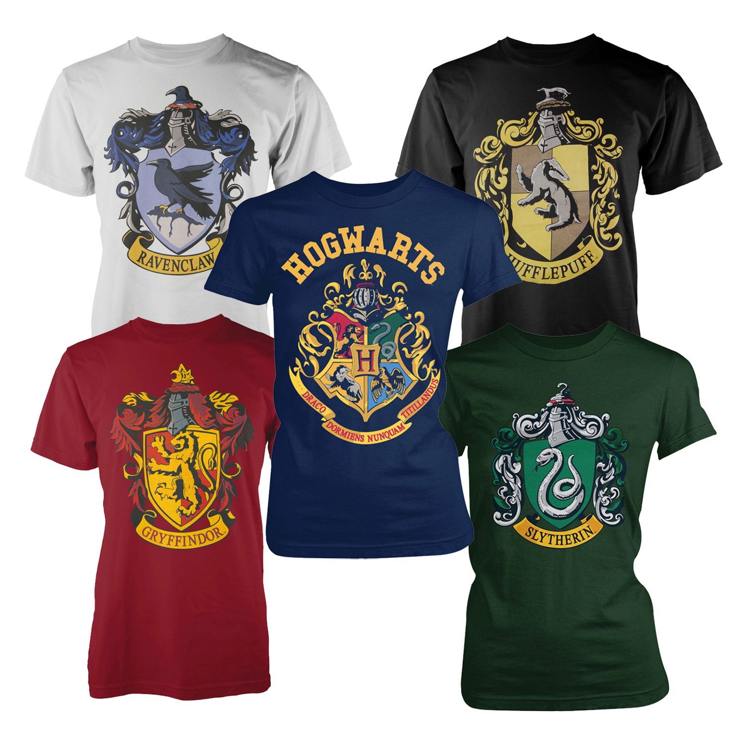 f47c998fa Details about Harry Potter Official Licensed Mens Hogwarts Crest Houses Graphic  Print T-Shirts