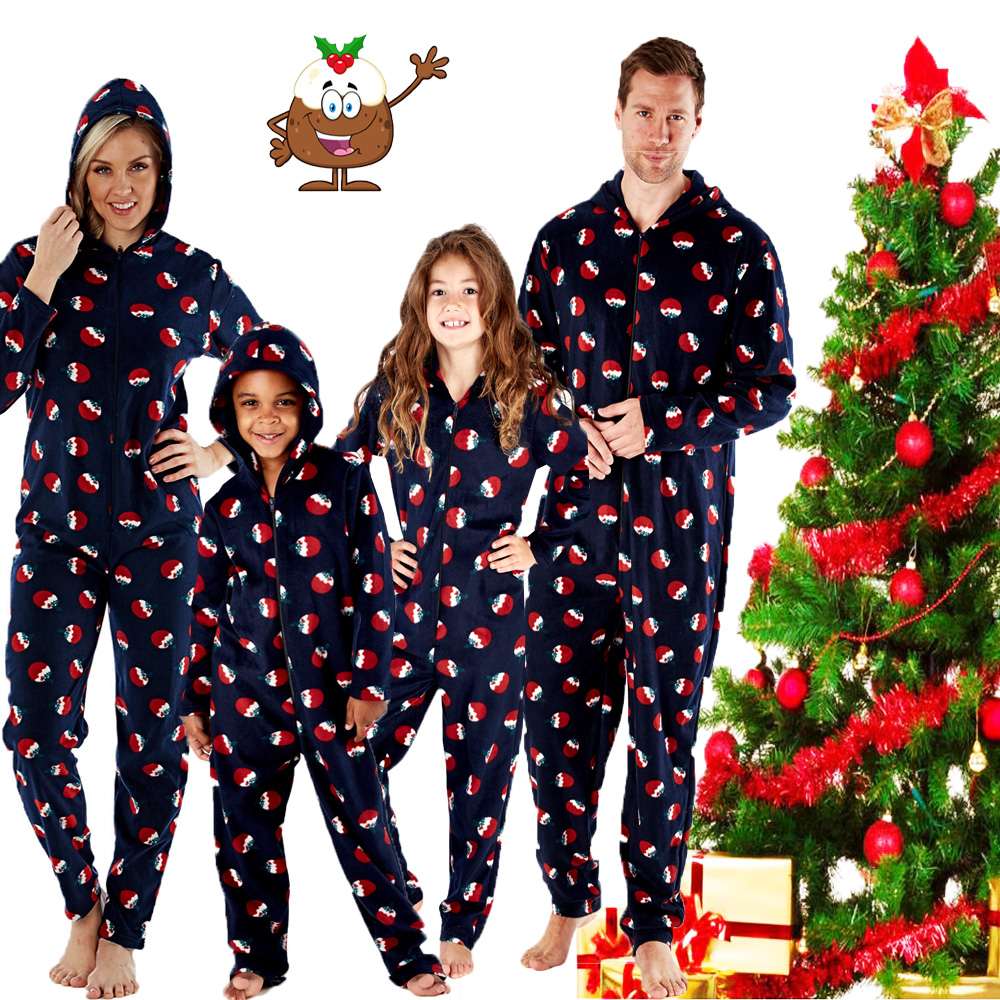 OneZee Adults Fleece Festive Christmas All in One
