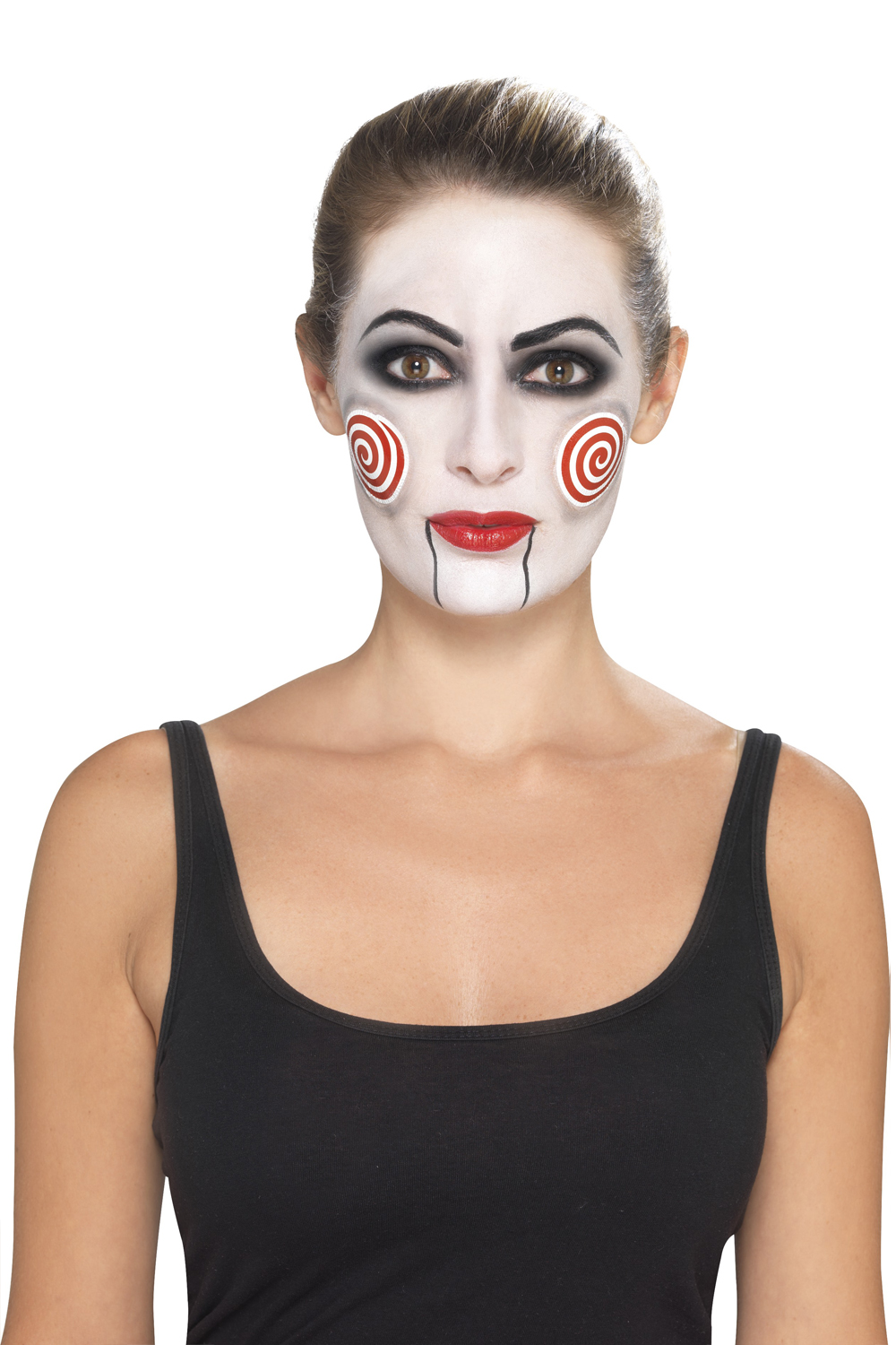 Smiffy-039-s-Donna-OFFICIAL-LICENSED-Saw-JigSaw-Costume-Di-Halloween-e-Make-Up-Kit