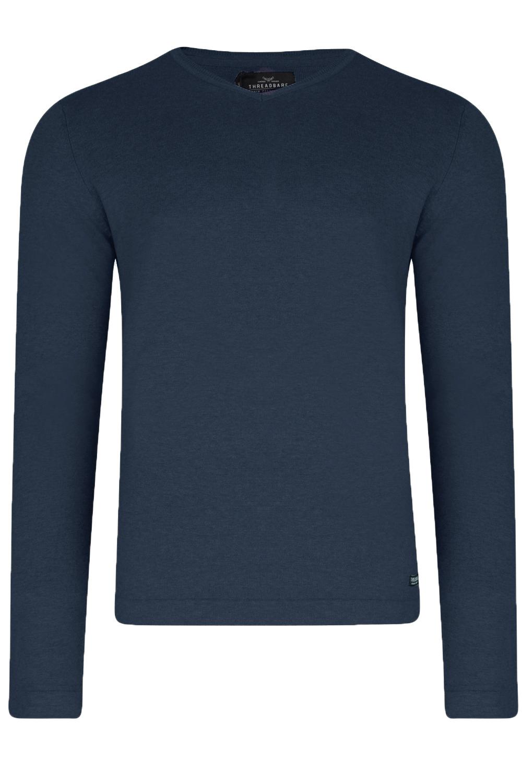 Threadbare Mens Parker Designer Cotton Knitted V Neck Sweaters ...