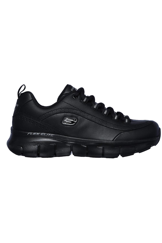 Skechers-Para-Mujer-Synergy-3-0-Entrenadores-Cuero-Memoria-Foam-Zapatillas-Zapatos-Con-Cordones miniatura 3