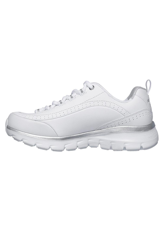 Skechers-Para-Mujer-Synergy-3-0-Entrenadores-Cuero-Memoria-Foam-Zapatillas-Zapatos-Con-Cordones miniatura 10