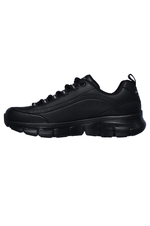 Skechers-Para-Mujer-Synergy-3-0-Entrenadores-Cuero-Memoria-Foam-Zapatillas-Zapatos-Con-Cordones miniatura 4