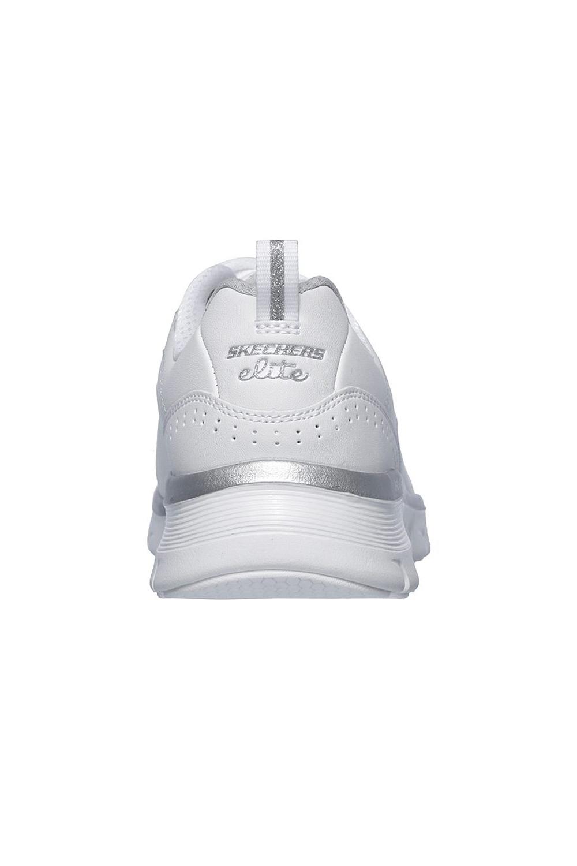 Skechers-Para-Mujer-Synergy-3-0-Entrenadores-Cuero-Memoria-Foam-Zapatillas-Zapatos-Con-Cordones miniatura 11