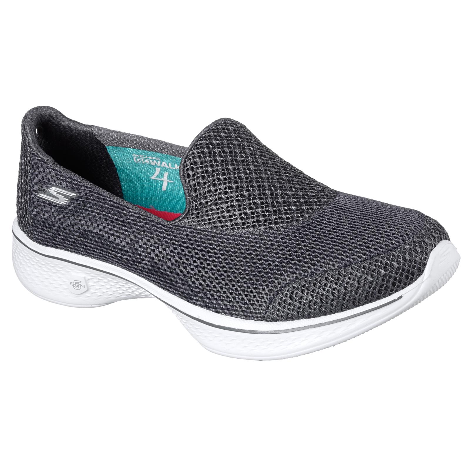 Skechers Mujer Go Go Go Walk 4 Propel Diseñador De Doble Capa de Malla Slip On entrenadores 186ea6