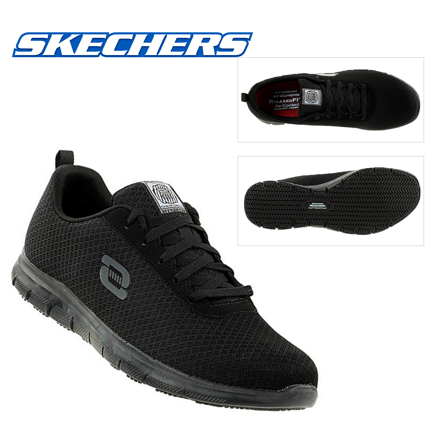 Ghenter Skechers Work Relaxed Fit Bronaugh SR Womens Trainers Shoes 77210EC
