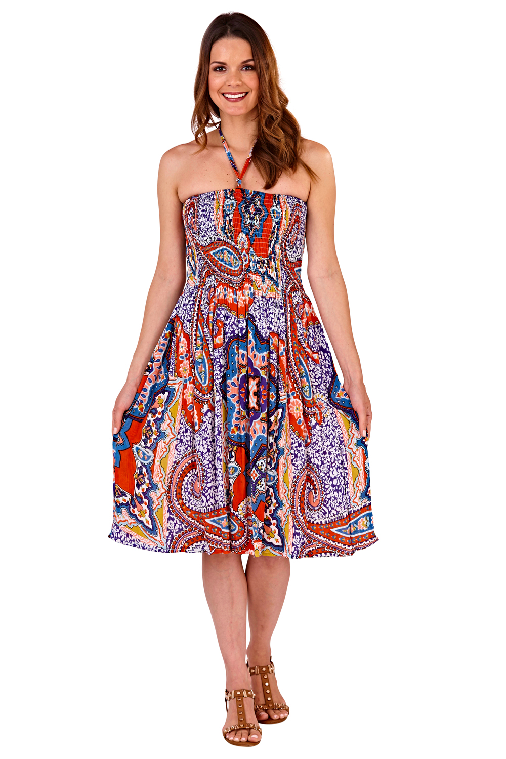 Pistachio-Womens-Patterned-3-In-1-Dresses-Ladies-New-Cotton-Summer-Beach-Skirts thumbnail 20