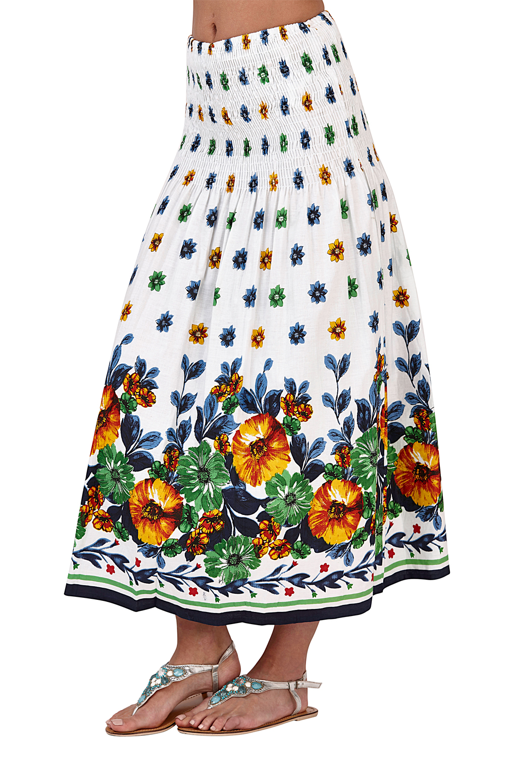 Pistachio-Womens-Patterned-3-In-1-Dresses-Ladies-New-Cotton-Summer-Beach-Skirts thumbnail 11