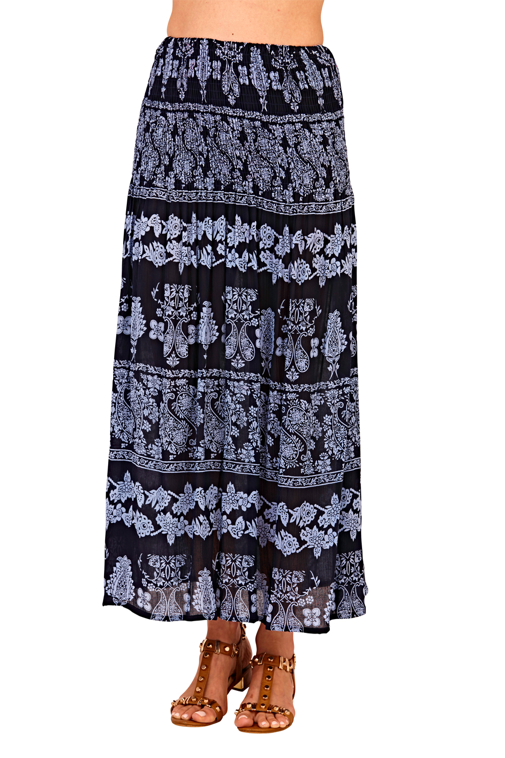 Pistachio-Womens-Patterned-3-In-1-Dresses-Ladies-New-Cotton-Summer-Beach-Skirts thumbnail 14