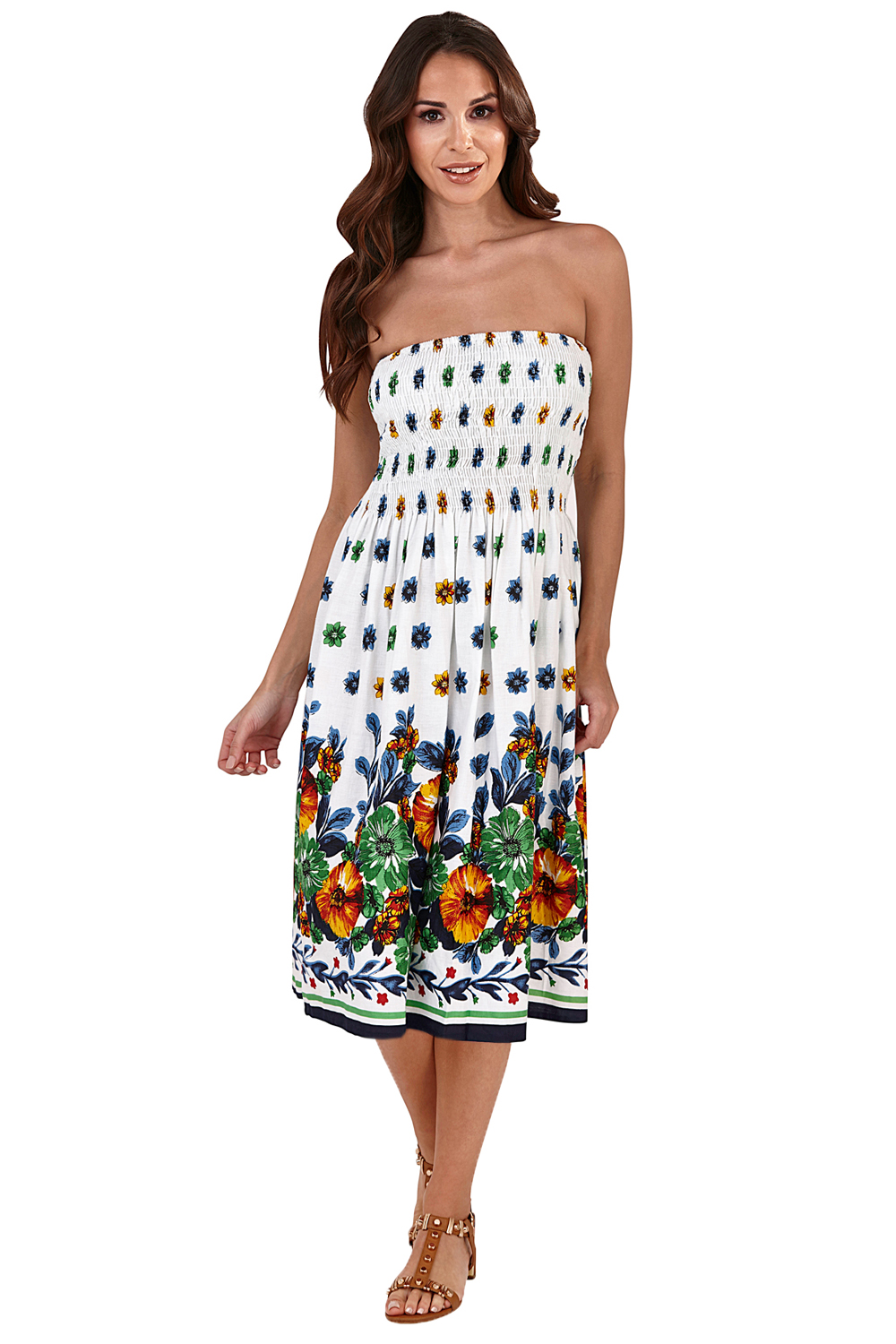 Pistachio-Womens-Patterned-3-In-1-Dresses-Ladies-New-Cotton-Summer-Beach-Skirts thumbnail 8