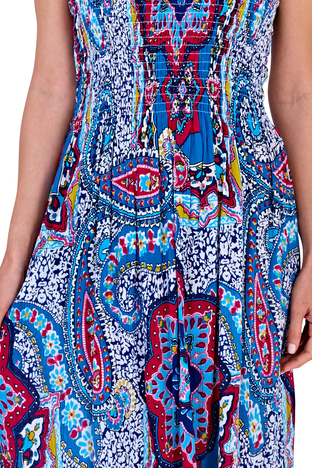 Pistachio-Womens-Patterned-3-In-1-Dresses-Ladies-New-Cotton-Summer-Beach-Skirts thumbnail 18