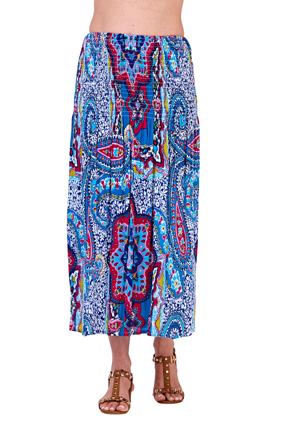 Pistachio-Womens-Patterned-3-In-1-Dresses-Ladies-New-Cotton-Summer-Beach-Skirts thumbnail 17