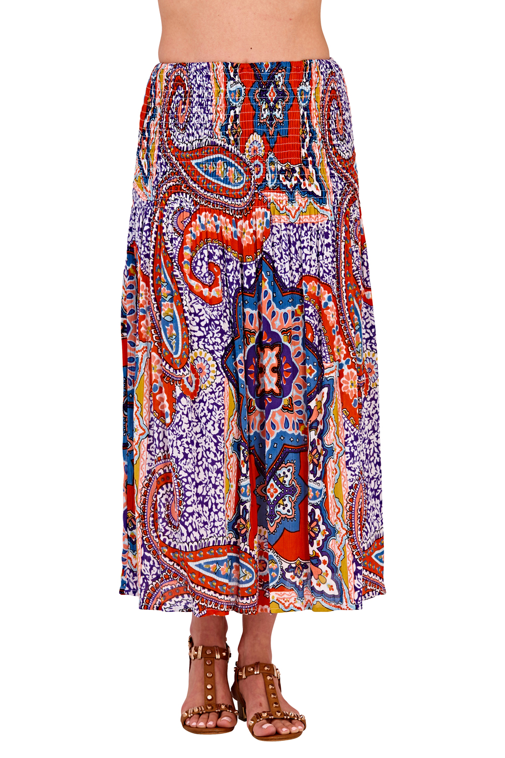 Pistachio-Womens-Patterned-3-In-1-Dresses-Ladies-New-Cotton-Summer-Beach-Skirts thumbnail 21