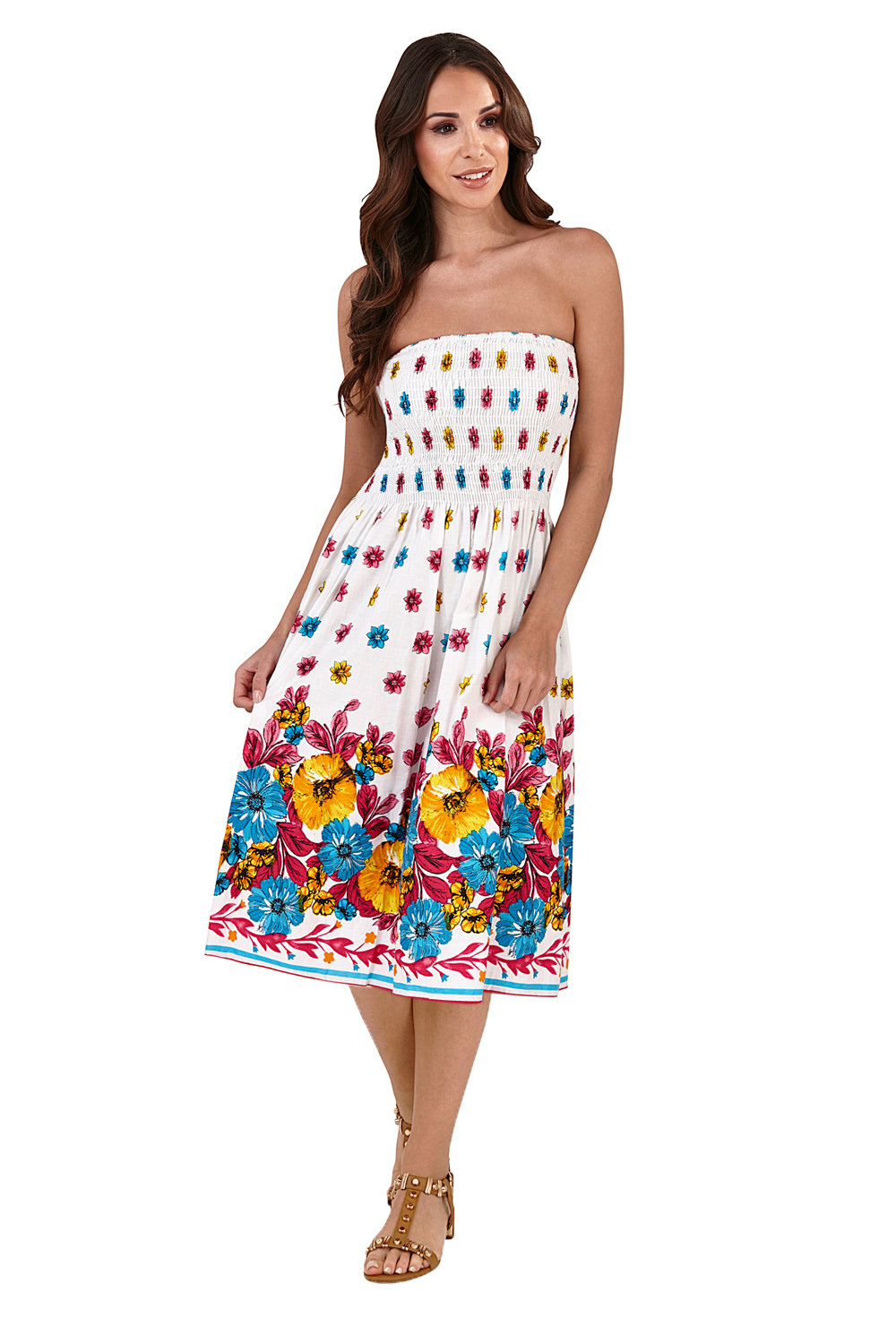 Pistachio-Womens-Patterned-3-In-1-Dresses-Ladies-New-Cotton-Summer-Beach-Skirts thumbnail 3