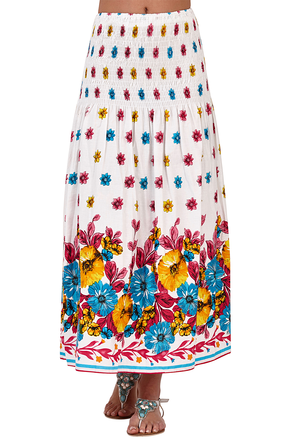 Pistachio-Womens-Patterned-3-In-1-Dresses-Ladies-New-Cotton-Summer-Beach-Skirts thumbnail 6
